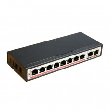 Switch Desktop 10 Porte RJ45 Plug and Play - SWITCH 8 POE