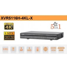 DVR 5in1 H265 16 Canali Ultra HD 4K 8MP - Dahua - XVR5116H-4KL-X